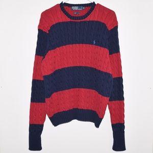 VTG Polo Ralph Lauren Cotton Cable Knit Sweater